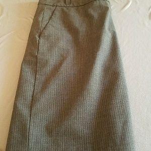 Banana Republic Pinstripe Grey Pencil Skirt